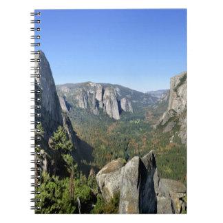 Yosemite Valley Panorama 2 - Yosemite Spiral Notebook
