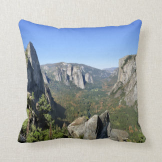 Yosemite Valley Panorama 2 - Yosemite Throw Pillow