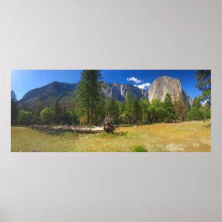 Yosemite Valley Ribbon Fall 2 Poster