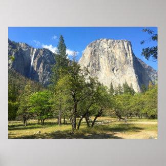 Yosemite Valley Ribbon Fall Poster