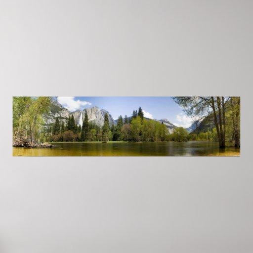 Yosemite Valley River Panorama Poster