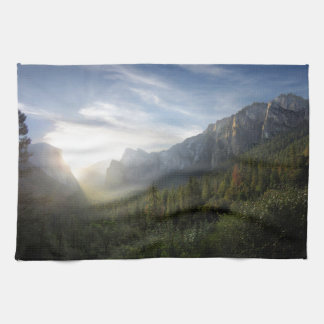 Yosemite Valley Sunrise from Inspiration Point Hand Towels