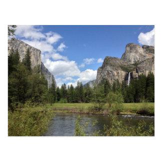 Yosemite Valley Waterfall Postcard
