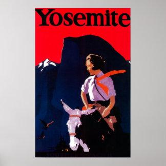 Yosemite Vintage PosterYosemite, CA Posters