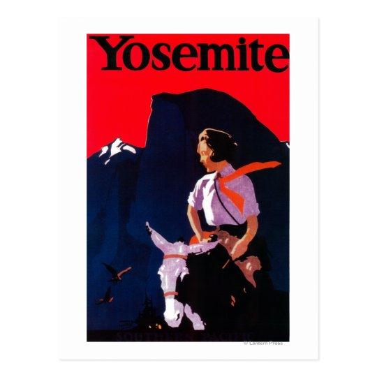 Yosemite Vintage PosterYosemite, CA Postcard