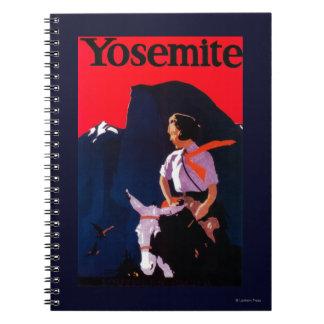 Yosemite Vintage PosterYosemite, CA Spiral Notebook