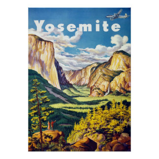 Yosemite ~ Vintage Travel Poster