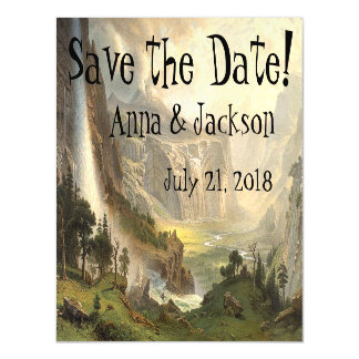 Yosemite Wilderness Falls Save Date Magnetic Card