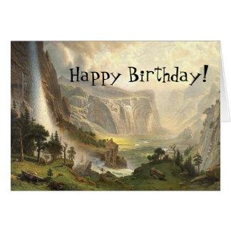 Yosemite Wilderness Waterfall Birthday Card