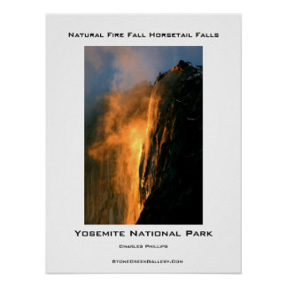 Yosemite's Natural Fire Fall Poster