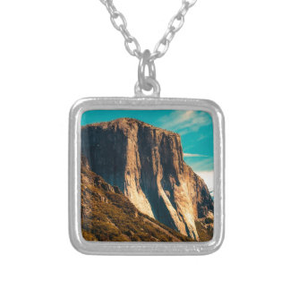 Yosemitie Mountain National Park Silver Plated Necklace