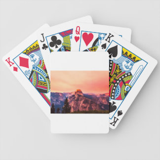 Yosemitie National Park Sundown Bicycle Playing Cards