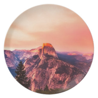 Yosemitie National Park Sundown Plate