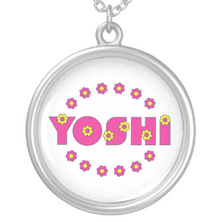 Yoshi in Flores Pink Silver Plated Necklace