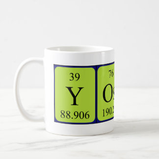 Yoshi periodic table name mug