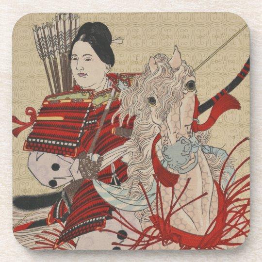 Yoshitoshi Female Warrior Samurai Hangaku Gozen Coaster