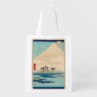 Yoshiwara, Japan: Vintage Woodblock Print Reusable Grocery Bag