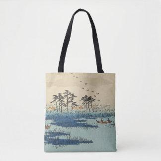 Yoshiwara, Japan: Vintage Woodblock Print Tote Bag