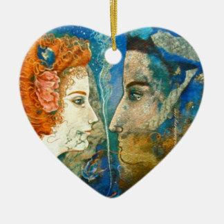 'You alone are real to me...'  Rilke - Ceramic Ornament