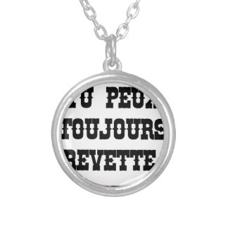 YOU ALWAYS CAN SHRIMP! - Word games Silver Plated Necklace