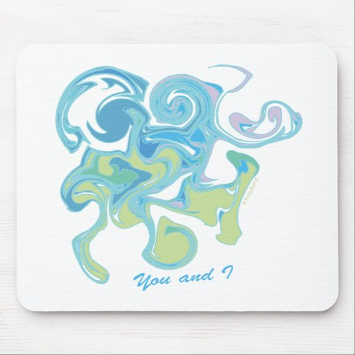 YOU AND I - FUN ABSTRACT LOVE drawing Mousepad