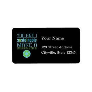 You and I Sustainable Custom Address Labels