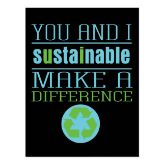 You and I Sustainable Postcard