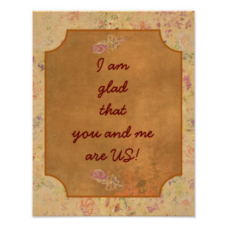 YOU AND ME --- Art Print
