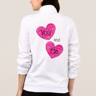 You and Me Cute Pink Crayon Hearts Design