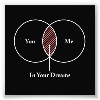 You and Me In Your Dreams Venn Diagram Photo Art