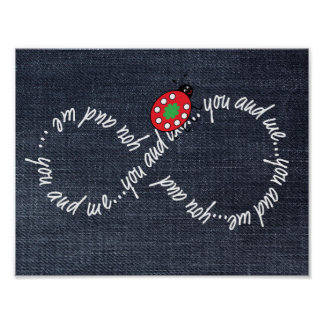 You and Me Infinity Value Poster Paper (Matte)