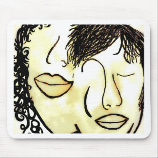 You and Me Sepia Tones Mouse Pad