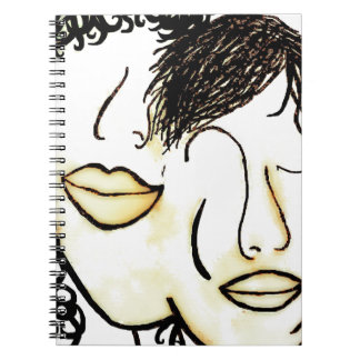 You and Me Sepia Tones Spiral Notebook