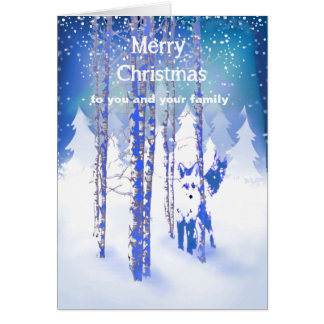 You and Your Family Custom Verse Christmas Fox Card