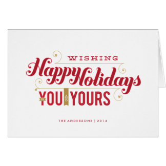 You and Yours Folded Holiday Card