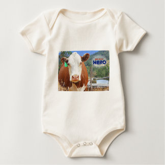 You are a Hero! Cow Baby Bodysuit