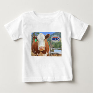 You are a Hero! Cow Baby T-Shirt