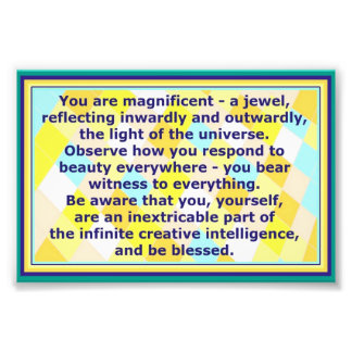 You are a Jewel Decorative Quote Photo Print