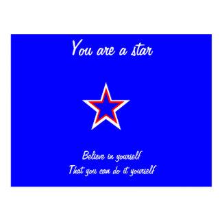 You are a star postcards-self confidence postcard