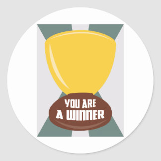 You Are A Winner Classic Round Sticker