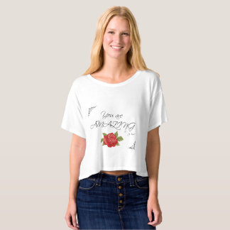 """You are AMAZING"" Hidden Message Crop Top"
