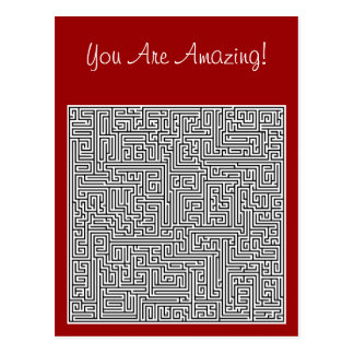 You Are Amazing Labyrinth Postcard