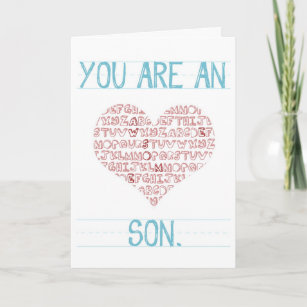 Valentines For Son Cards Greeting Cards More Zazzle Ca