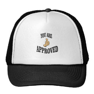 you are approved thumb trucker hat