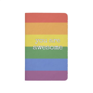 You Are Awesome Journal rainbow