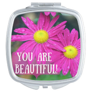 You Are Beautiful Compact Mirror