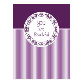 You are Beautiful Encouragement Postcard