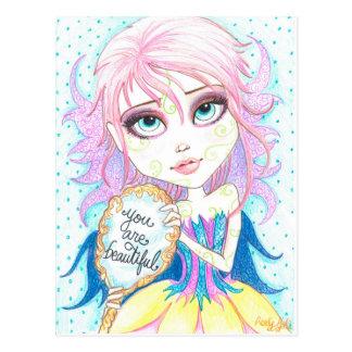 You Are Beautiful Fantasy Art Postcard