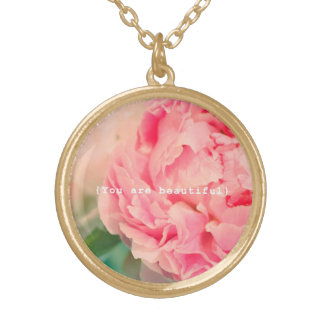You Are Beautiful Gold Plated Necklace