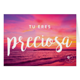 You are Beautiful Spanish Notecard w. Envelope